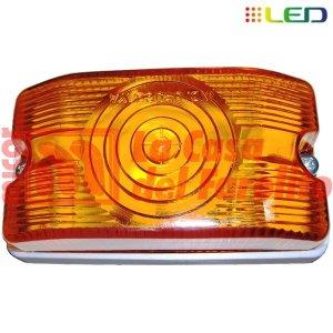 FAROL LATERAL 6 LEDS 12/24 V 105 X 58 MM ÁMBAR