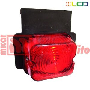 FAROL LATERAL FLEXIBLE SIMPLE CON SOPORTE PVC 9 LEDS 12/24V 67 X 77 MM ROJO