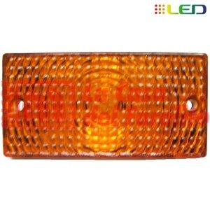 FAROL LATERAL 6 LEDS 12/24 V 95 X 50 MM ÁMBAR