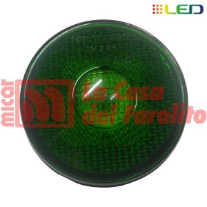 FAROL LATERAL TIPO RANDON 9 LEDS 12/24 V 90 MM VERDE