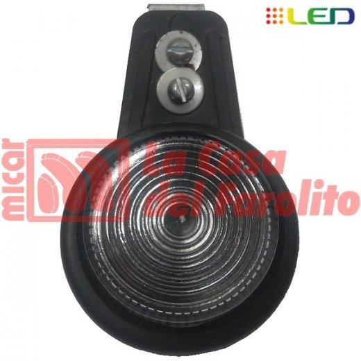 FAROL LATERAL FELXIBLE TIPO CALZA 6 LEDS 12/24 V 60 MM CRISTAL