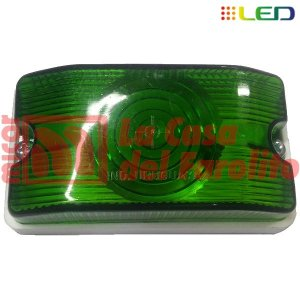 FAROL LATERAL 6 LEDS 12/24 V 105 X 58 MM VERDE