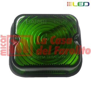 FAROL LATERAL LED 9 LEDS 12/24 V 77 X 67 MM VERDE