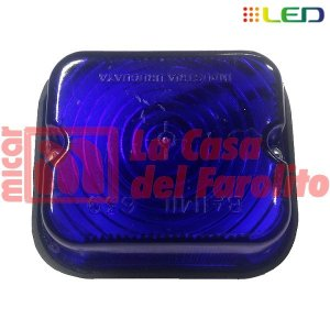 FAROL LATERAL LED 9 LEDS 12/24 V 77 X 67 MM AZUL