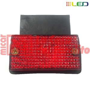 FAROL LATERAL 6 LEDS 12/24 V 95 X 50 MM ROJO
