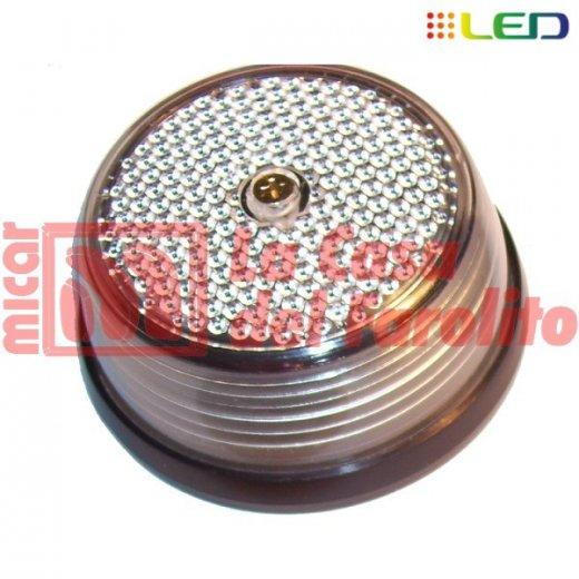 FAROL LATERAL REDONDO 9 LEDS 12/24 V 82 MM CRISTAL