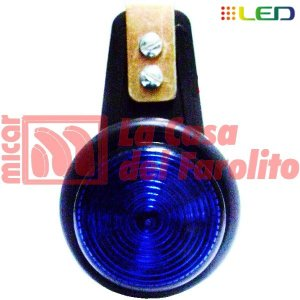 FAROL LATERAL FELXIBLE TIPO CALZA 6 LEDS 12/24 V 60 MM AZUL