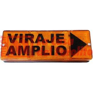 FAROL VIRAJE AMPLIO 240 X 84 X 51 MM ÁMBAR