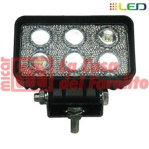 CAMINERO DE 6 LED RECTANGULAR 110 X 65 MM