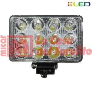 CAMINERO DE 12 LED RECTANGULAR 170 X 100 MM CON CORTA Y LARGA