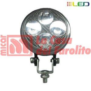 CAMINERO DE 4 LED REDONDO 90 MM