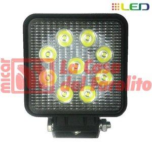 CAMINERO DE 9 LED CUADRADO 110 X 110 MM