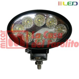CAMINERO DE 8 LED OVALADO 140 X 90 MM