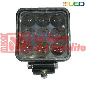 CAMINERO DE 9 LED CUADRADO 100 X 100 MM
